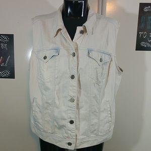 Style & Co. Jean Denim Vest Plus Size